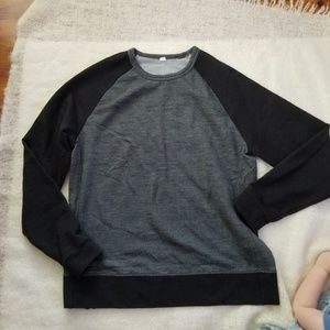 Lululemon crew neck pullover gray side zip large